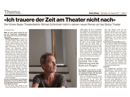 Interview in der Basler Zeitung Interview in the Basler Zeitung