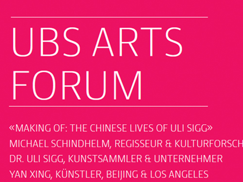 """""""The Chinese Lives of Uli Sigg"""" – Making-of beim UBS Arts Forum""""The Chinese Lives of Uli Sigg"""" – Making-of at UBS Arts Forum"""